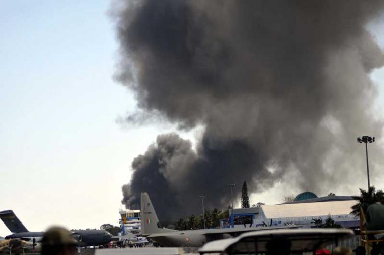 एयर इंडिया शो  के दौरान लगी आग